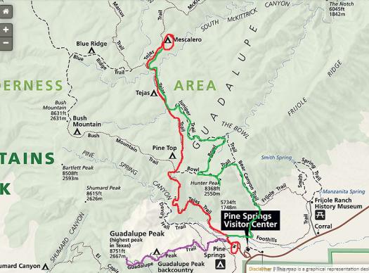 map-of-trails-in-guadalupe-peak